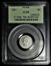 1901 SILVER CANADIAN DIME PCGS AU50 #5348