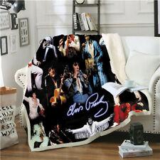 Singer Elvis Presley 3D Print Sherpa Blanket Sofa Couch Quilt Cover Throw Fleece