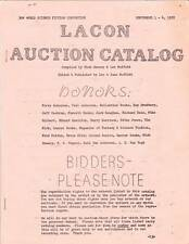 1972 World Science Fiction Convention Lacon Auction Catalog
