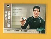 39987 SIDNEY CROSBY 2005/06 PARKHURST PEBGUINS CARD #586 BK$10