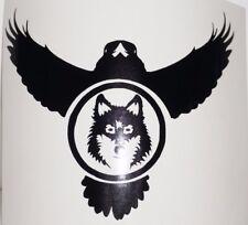Wall Sticker custom Vinyl indoor decal window removable fantasy Raven Wolf