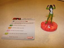 #006 Marvel Heroclix Civil War She-Hulk with card