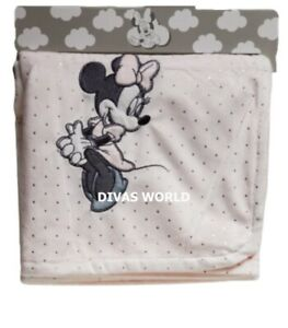 Disney Minnie Mouse Baby Blanket Soft Fleece Throw Brand New Gift Primark
