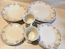 dynasty 1008-20 colleen (w/o verge) fine china set 20pc 4 place settings, pink