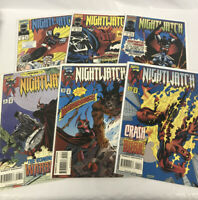 Lot Of 6 Marvel Comics NIGHTWATCH - # 4 5 7 8 10 11 Bags & Boards - Good Cond