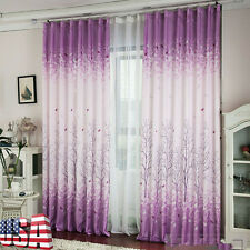 Blackout Valances Calico Room Door Window Curtain Drape Panel Scarf Divider US