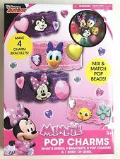 Disney Jr Minnie Mouse Pop Charms Bracelet Jewelry Craft Kit Daisy Duck New Gift