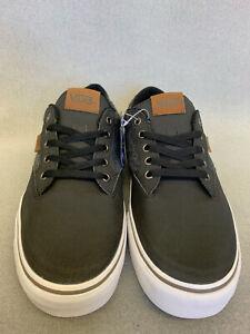 Vans Authentic Off The Wall  Ortholite Unisex Canvas Shoes Black/Grey Sz 10 US