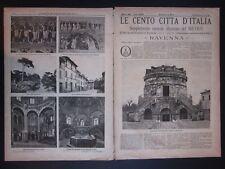 1888 RAVENNA Le Cento Città d'Italia Sonzogno Editore riccamente illustrato