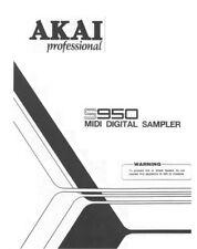 Akai S950 Digital Sampler Owners Instruction Manual