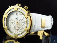 Mens Aqua Master El Russo W#346 Gold Stainless Steel White Diamond Watch 0.20 Ct