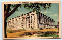 *Department of Justice Building Classic Cars Washington DC Vintage Postcard B51
