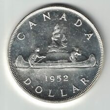 CANADA 1952 NWL REPUNCHED 2 VOYAGEUR SILVER DOLLAR KING GEORGE VI SILVER COIN