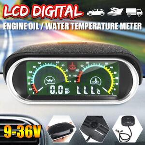 2in1 Auto Lkw LCD Digital Wassertemperatur Öldruck Messgerät Universal Yi