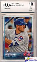 2015 Topps #616 Kris Bryant ROOKIE BECKETT 10 MINT Chicago Cubs !