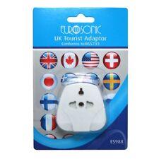 Travel Adaptor Plug: Worldwide / European / USA Visitor To UK United Kingdom