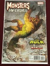 MONSTERS UNLEASHED 4 Retailer Incentive Variant Cover Bill Sienkiewicz Hulk  NM
