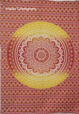 Round Omber Mandala Design Pattern Small Size Tapestry Poster Soft Wash Indian