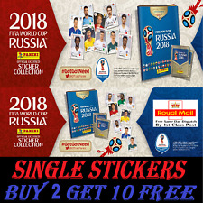 Panini  RUSSIA WORLD CUP 2018 STICKERS #501-681  BUY 2 GET 10 FREE!!!