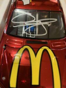 Diecast 1/24 JAMIE McMURRAY McDonald's 2012 Impala Color Chrome AUTOGRAPHED #/72