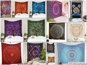 Tapestry Indian Bohemian Twin Blanket Bedspread Wall Hangings Ethnic Printed New