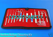 15 PCS STUDENT BIOLOGY DISSECTION DISSECTING KIT W/ STERILE SURGICAL BLADE #24