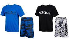 New Adidas Little Boys 2-Pc. Camo Logo Shirt & Shorts Set Choose Size MSRP $44