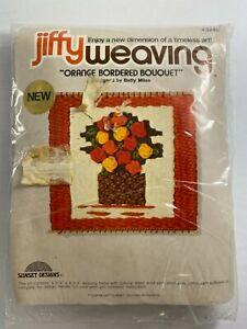 Jiffy Weaving 3240 ORANGE BORDERED BOUQUET weaving LOOM included 1977 Sealed