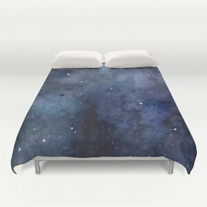 Twin XL Full Queen King Moon Galaxy Space Sky Light Soft Microfiber Comforter