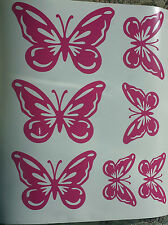7 butterflies in choice of colours - vinyl sticker, decals, graphics, wall art