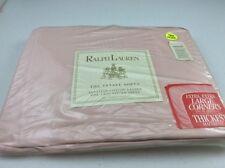 Ralph Lauren One Twin Fitted Sheet  Sateen Rosebub Pink