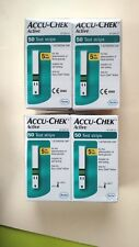 4 BOXES(200 Strips) of  Accu Chek Active Diabetic 50 Test Strips Exp 02/2019