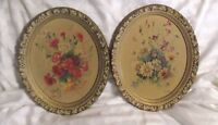 ANTIQUE SHABBY COTTAGE OVAL PRINTS BY B. RIASNI PRINT # 3440 & 3441