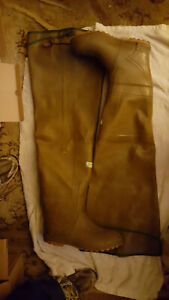 Vintage Northeren Servus Insulated hip wader rubber boots tread sole size 9.5