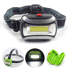 Mini led headlamp flashlight camping COB AAA battery small head light torch lamp