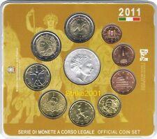 Euro ITALIA 2011 Folder Ufficiale 10 monete Fdc