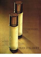 Publicité advertising  1970   JEAN D'ALBRET  eau de toilette ECUSSON