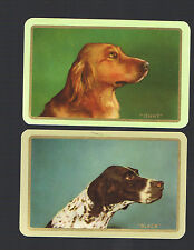 """Playing Swap Cards  2  VINT """"NAMED  BLACK  &  JENNY """"  DOGS   AWESOME W366"""