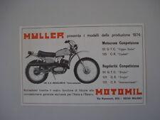advertising Pubblicità 1974 MOTO MULLER 125 CR REGOLARITA'