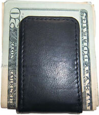 Leather Mini Money Clip, magnetic money clip, Holds a stock of bills, Brand new
