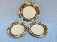"Myott Son & Co Hanley Lot 3 Englands Countryside 10"" Plate 2 Bowls 8"" Antique"