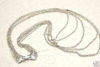 Collier sautoir vintage couleur argent chaîne 5 rangs * 3853