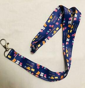 Lanyard Neck Strap With Strong Metal Clip ID Card Pass Holder Cat Purple Cute