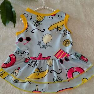 Pet Clothes Summer Small Dog Cat Dress Cute Princess Chihuahua Puppy Skirt #