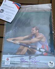 Steve Redgrave Signed Print Olympics London 2012 Sydney 2000 Atlanta 1996 Rowing
