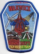 "Warwick Technical Rescue Team, Rhode Island (3.5"" x 4.5"" size) fire patch"