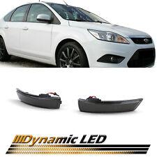 Dynamische LED Spiegel Blinker Schwarz für Ford Focus 2 3 ab 04 Mondeo 4 07-15