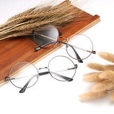 Fashion Men Women Metal Frame Clear Round Lens Glasses Nerd Spectacles Eyeglass