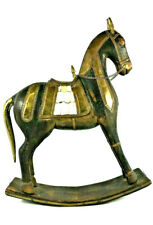 Antique Handcrafted Wooden Rocking Horse Toy - Aged, Detailed, Rare & Unique