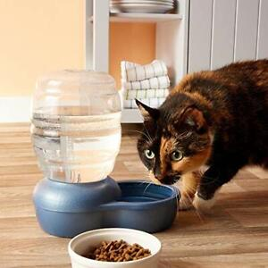 Replendish Gravity Waterer with Microban Cat & Dog Water Dispenser 4 Sizes Blue